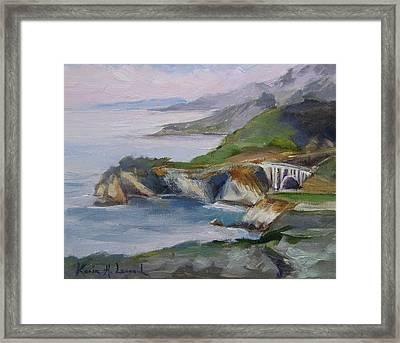 Big Sur Sunset Framed Print by Karin  Leonard