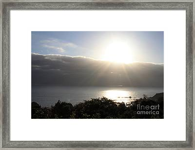 Big Sur Sunset Framed Print by Linda Woods