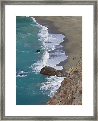 Big Sur Surf Framed Print by Art Block Collections