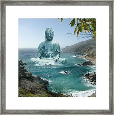 Big Sur Tea Garden Buddha Framed Print