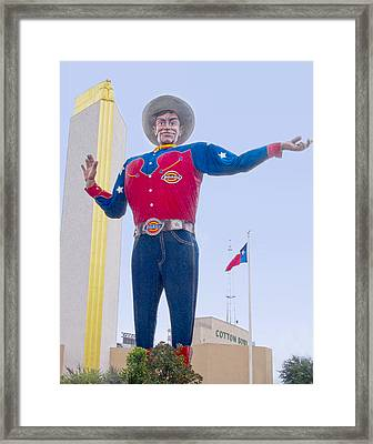 Big Tex And The Cotton Bowl  Framed Print