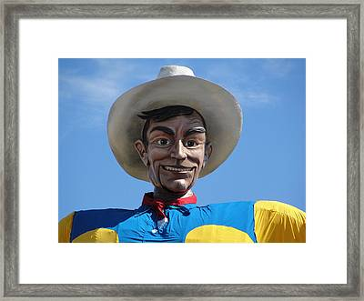 Big Tex Framed Print