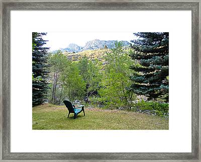 Big Thompson Canyon Pre Flood Moment 1 Framed Print by Robert Meyers-Lussier