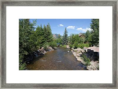Big Thompson Estes Park Framed Print