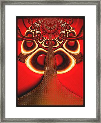 Big Tree From The Red Forest Framed Print