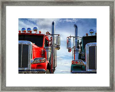 Big Trucks Framed Print by Bob Orsillo