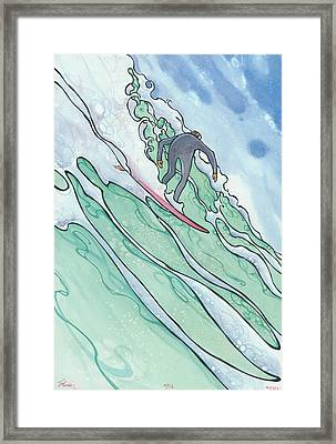Big Wave 2 Framed Print