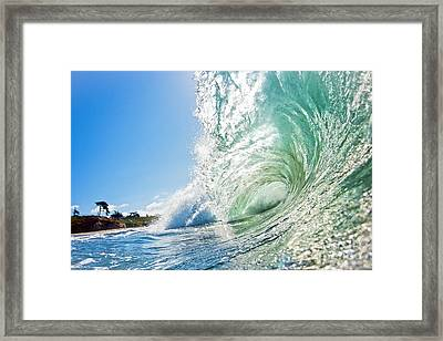 Framed Print featuring the photograph Big Wave On The Shore by Paul Topp