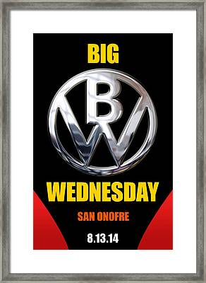 Big Wednesday 2014 Poster Framed Print