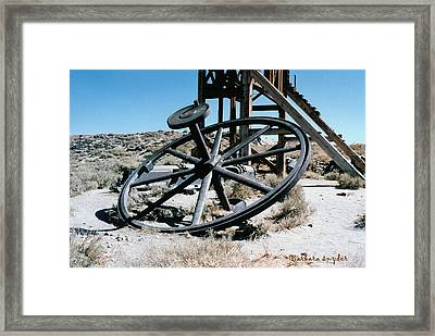 Big Wheel Bodie Framed Print by Barbara Snyder