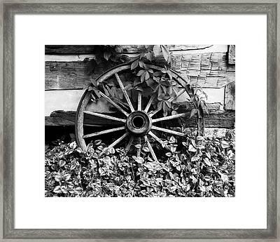 Big Wheel Bw Framed Print