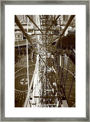 Darling Harbour Big Wheel.  Framed Print