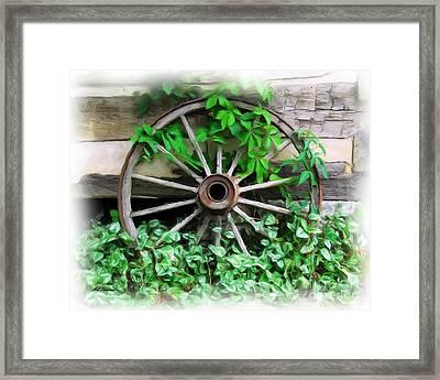 Big Wheel Framed Print by Mel Steinhauer