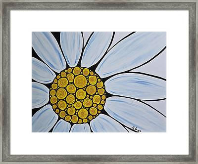 Big White Daisy Framed Print by Sharon Cummings