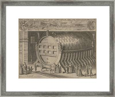 Big Wine Barrel Heidelberg Framed Print by Willem Jacobsz. Delff And Hendrick Focken
