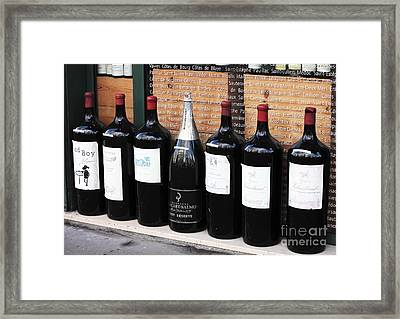 Big Wine Framed Print by John Rizzuto