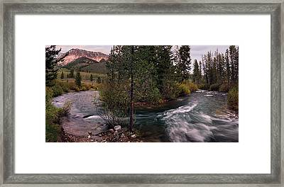 Big Wood River Curve 2 Framed Print by Leland D Howard