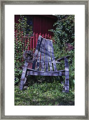 Big Wooden Chair Framed Print