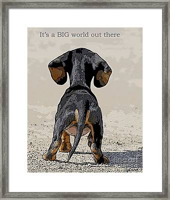Big World Framed Print by Judy Wood