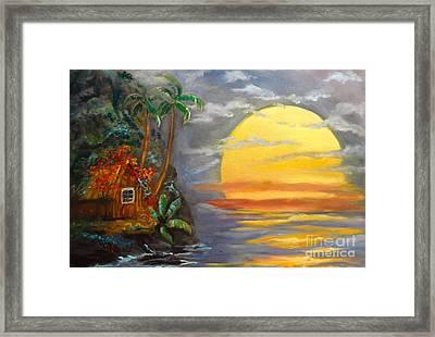 Big Yellow Sun Framed Print
