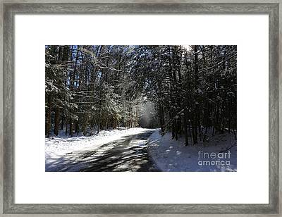 Bigelow Hollow Falling Snow   Framed Print