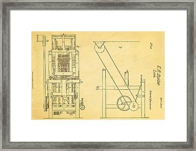 Bigelow Loom Patent Art 1837  Framed Print