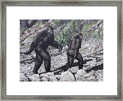Bigfoot Couple Framed Print