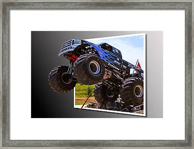 Bigfoot Out Of Frame Framed Print
