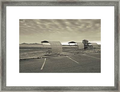 Bigfoot Pass Overlook Area At Badlands Framed Print