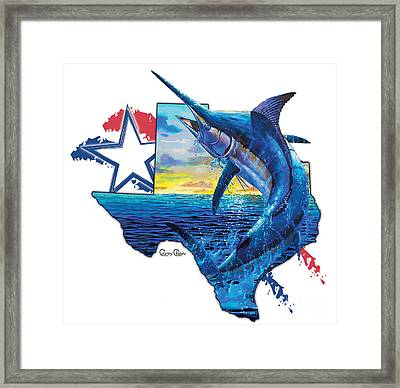 Bigger In Texas Framed Print by Carey Chen