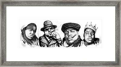 Biggie Smalls Art Drawing Poster Framed Print by Kim Wang