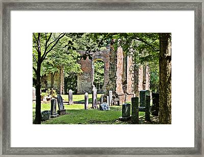 Framed Print featuring the photograph Biggin Church by Linda Brown