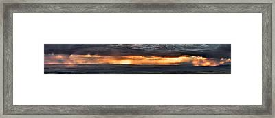 Bighorn Basin Storm Panoramic Framed Print