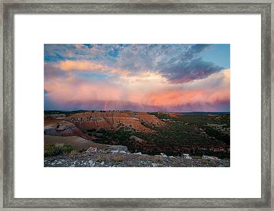 Bighorn Basin Sunset Framed Print