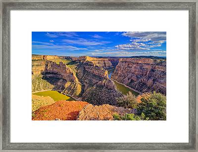 Bighorn Canyon Framed Print by Greg Norrell