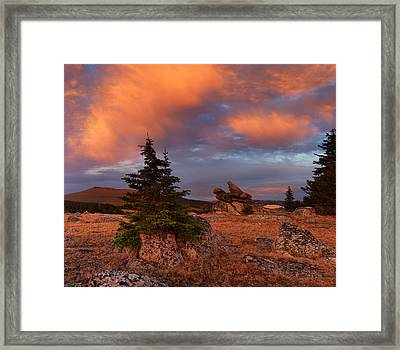 Bighorn Mountains Sunrise Framed Print
