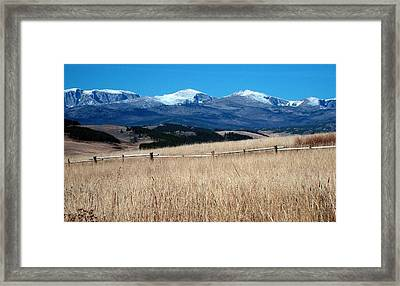 Bighorn Mountains Wy Framed Print