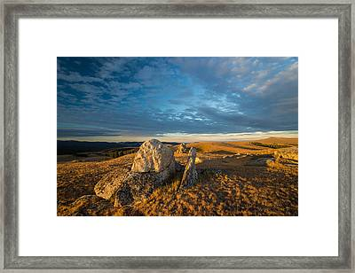 Bighorn Ridge Sunrise Framed Print