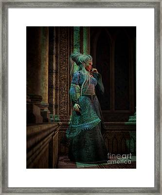 Bijou Stained Glass Framed Print