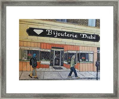 Bijouterie Dube Framed Print by Reb Frost