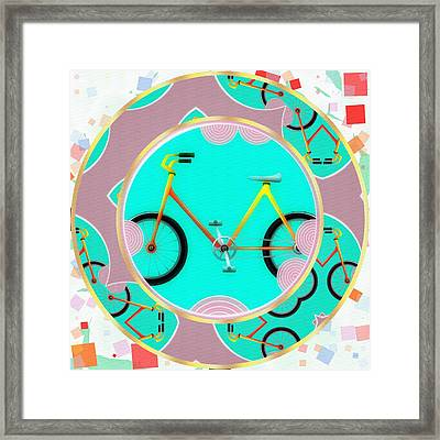 Bike Abstract Framed Print by L Wright