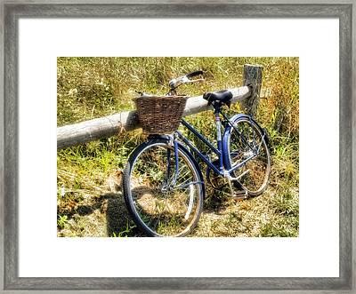 Bike At Nantucket Beach Framed Print by Tammy Wetzel