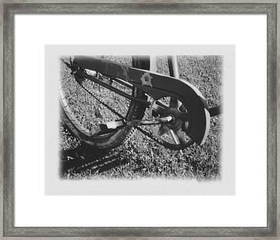 Bike Framed Print by Brady D Hebert