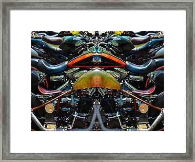 Bike Collage Framed Print