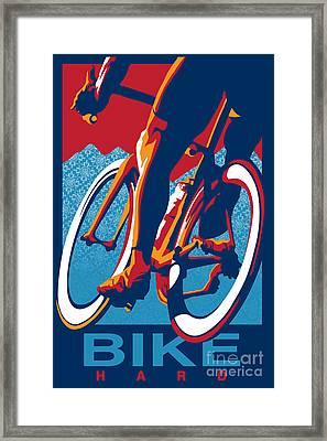 Bike Hard Framed Print