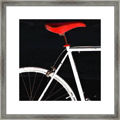 Bike In Black White And Red No 1 Framed Print by Ben and Raisa Gertsberg