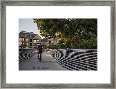 Bike In Houston  Framed Print by John McGraw