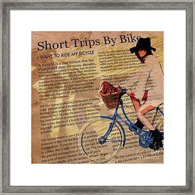 Bike In Style Framed Print