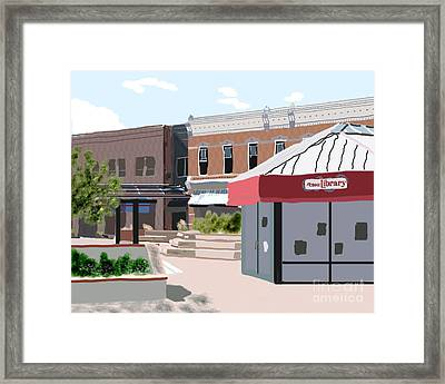 Bike Library Framed Print by James Cole