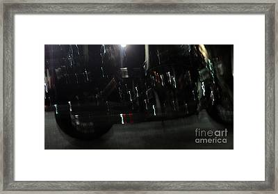 Framed Print featuring the photograph Bike Light Painting by Megan Dirsa-DuBois